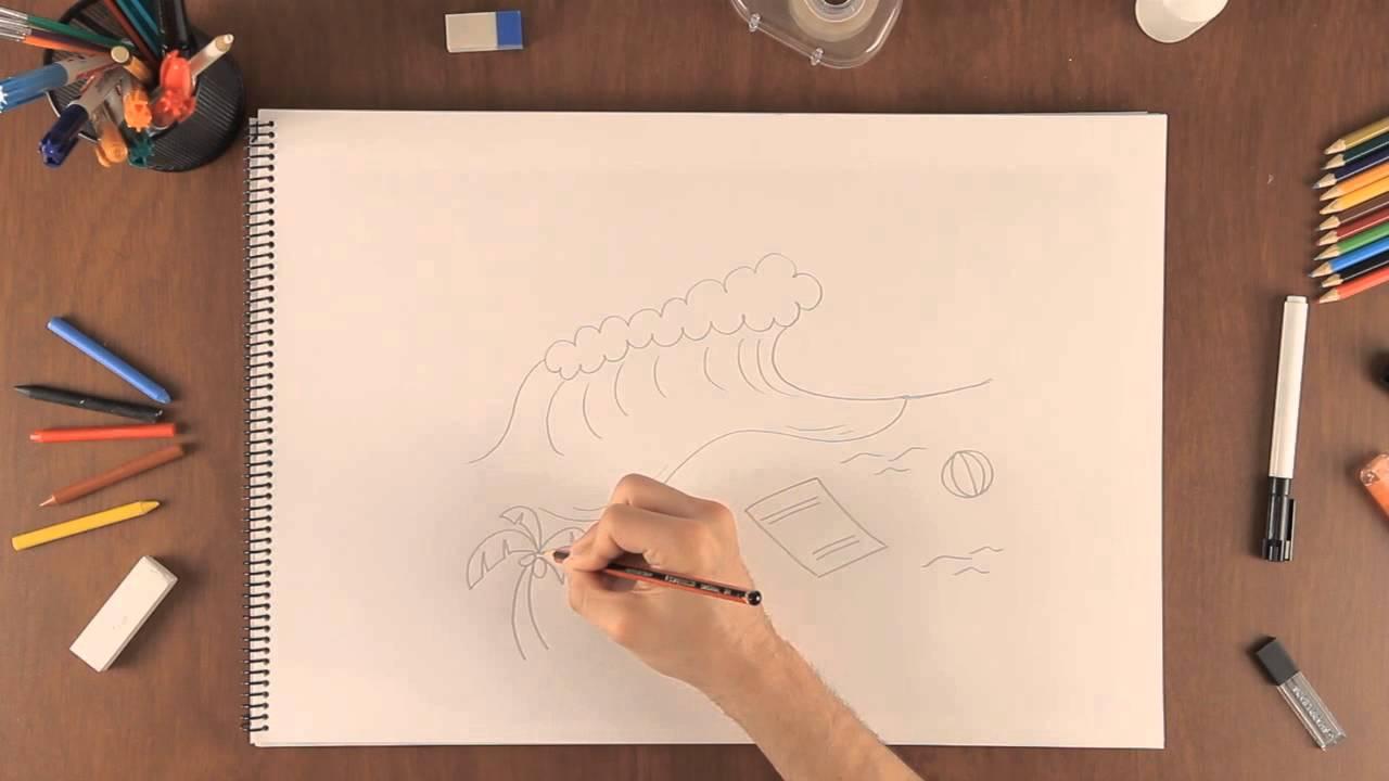 Cmo dibujar una escena de playa  Aprende a dibujar como un