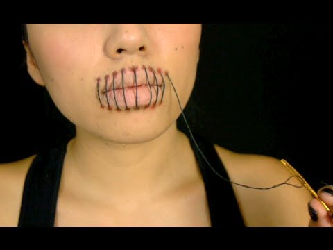 stitched mouth tutorial halloween 2013 - Halloween Tutorials