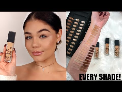 NEW NARS Natural Radiant Longwear Foundation REVIEW, DEMO + SWATCHES  | Blissfulbrii