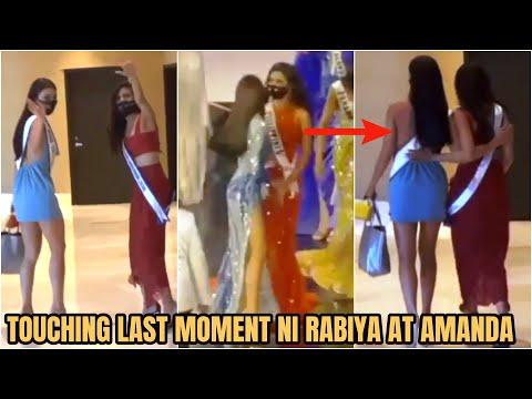 NAKAKAIYAK! Goodbye Moment ni Rabiya at Miss Thailand Amanda Obdam