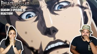 COMMANDER ERWIN! Attack On Titan Season 3 Episode 16 REACTION!!!