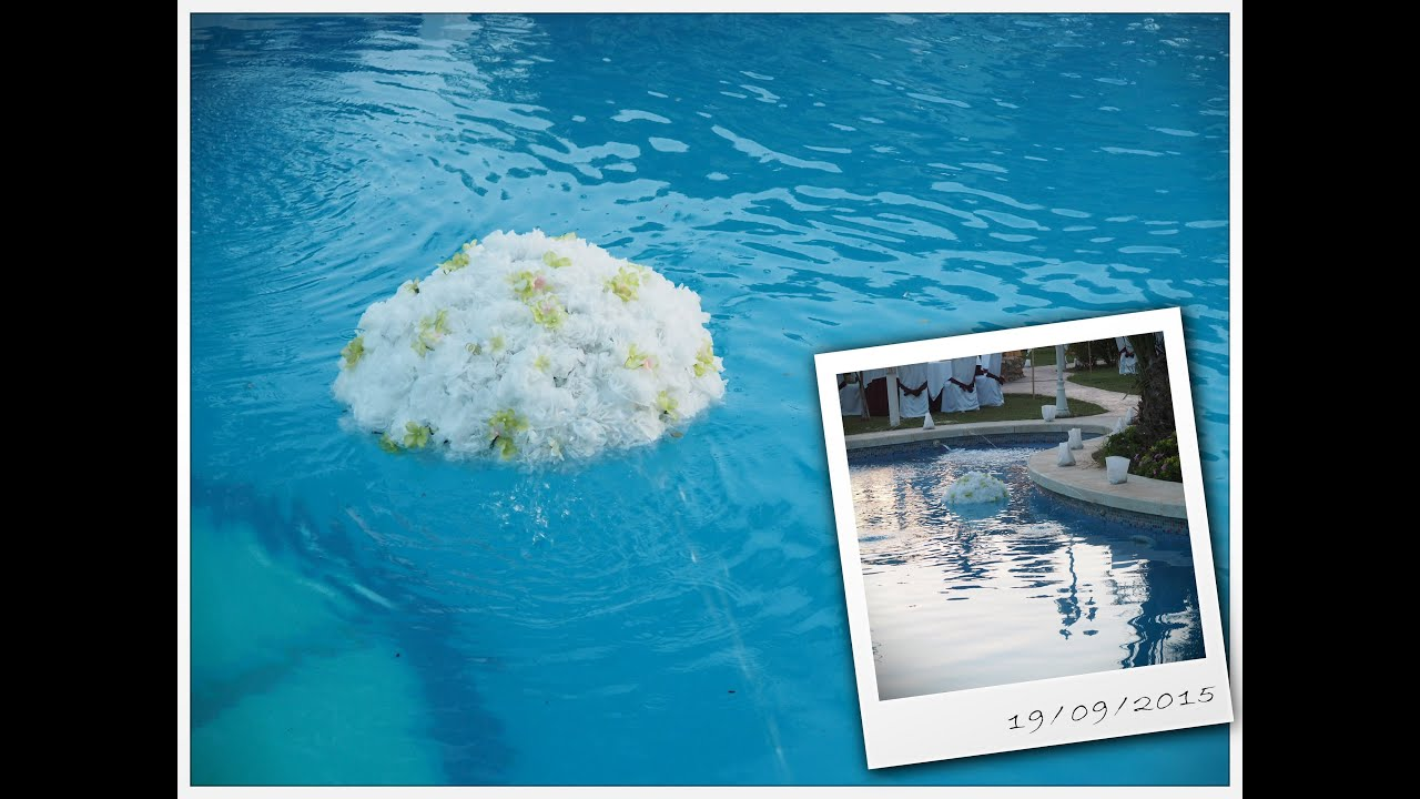 Flores de bolsa plastica y vasos para decorar fiestas y o for Ideas para decorar alrededor de la piscina