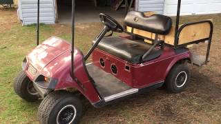 Old Electric Golf Cart Converted to Gasoline Engine