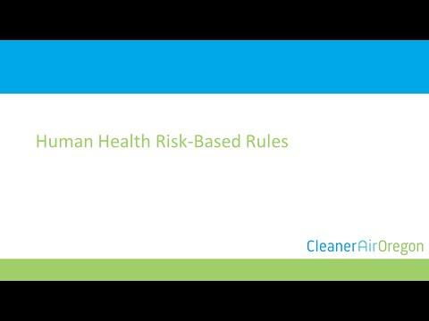 Human Health Risk-Based Rules