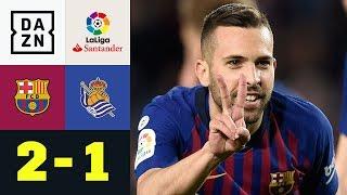 Jordi Alba schießt Barcelona zum Sieg: FC Barcelona - Real Sociedad 2:1 | La Liga | DAZN Highlights