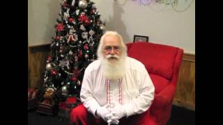 Santa gives Thumbs Up and Prayers for Lane Goodwin