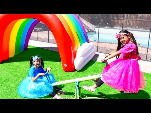 The More We Get Together | Emma & Jannie Pretend Play Nursery Rhymes & Kids Songs