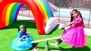 The More We Get Together | Emma & Jannie Pretend Play Nursery Rhymes & Kids Songs