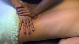 Поясничный остеохондроз,массаж спины /Massage