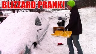 SNOWY CAR PRANK!