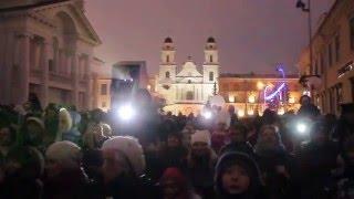 Парад Дедов Морозов 2016 в Минске! 15ч.(19). Лазерное шоу. Беларусь