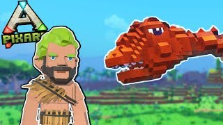 PixARK - House Building in a Dino World! - Ark Meets Trove & Minecraft?! -  PixARK Gameplay pt 1