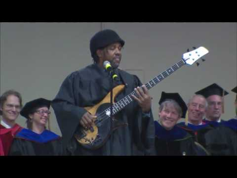 Victor Wooten 2016 Commencement Speaker for the University of Vermont Rubenstein School