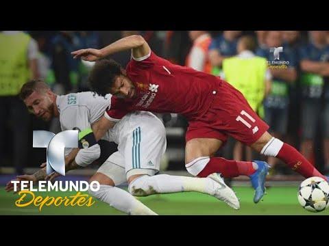 La falta a Salah que ha puesto a Sergio Ramos en la candela | Champions League | Telemundo thumbnail