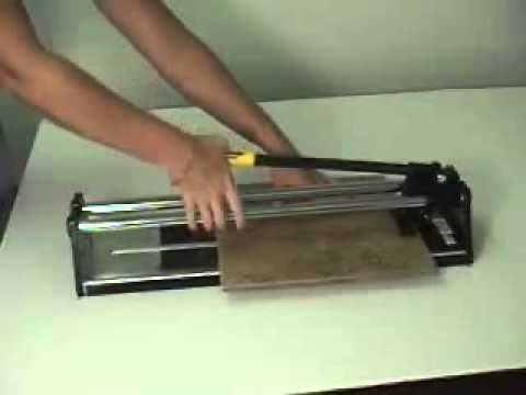 how to use the nattco tile cutter youtube