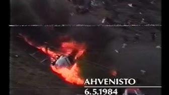 Helikopteri onnettomuus Ahvenisto 1984 - kotikuvaus