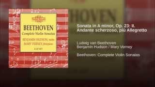 Sonata in A minor, Op. 23: II. Andante scherzoso, più Allegretto