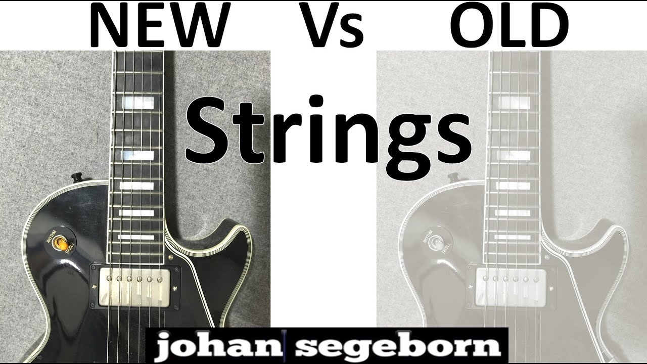 new vs old strings electric guitar youtube. Black Bedroom Furniture Sets. Home Design Ideas