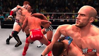 WWE Battleground 2014 - 20 Man Intercontinental Championship Battle Royal (WWE 2K14)