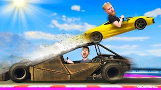 RAMP CAR STUNT RACE CHALLENGE! | GTA5