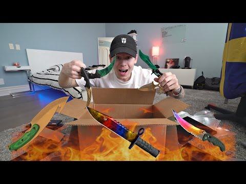 REAL LIFE KNIFE UNBOXING! INSANE CS:GO KNIVES