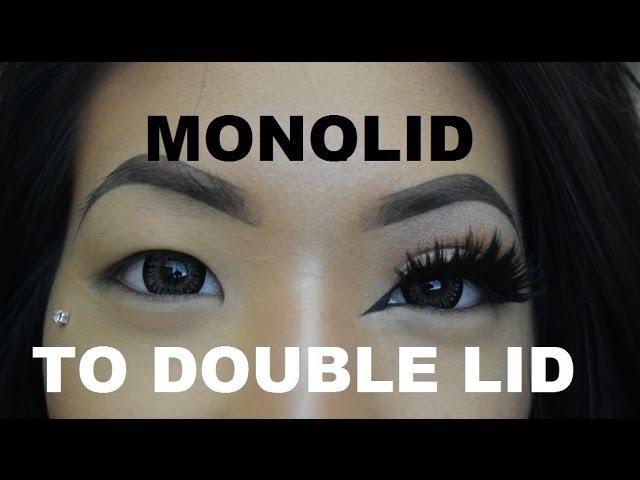 Monolid To Double Eyelid With Fake Eyelashes Tutorial Clip