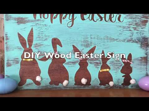 DIY Easter Wood Sign