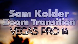 Vegas Pro 14: How To Make The Sam Kolder Zoom Transition - Tutorial #209 Video
