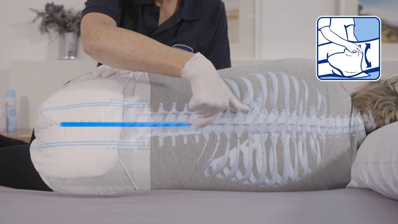 pose du hartmann molicare elastic sur patient couche youtube. Black Bedroom Furniture Sets. Home Design Ideas