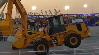 Stunts by Heavy Equipment at Al Qahtani Heavy Equipment and Machinery at Dhahran Saudi Arabia