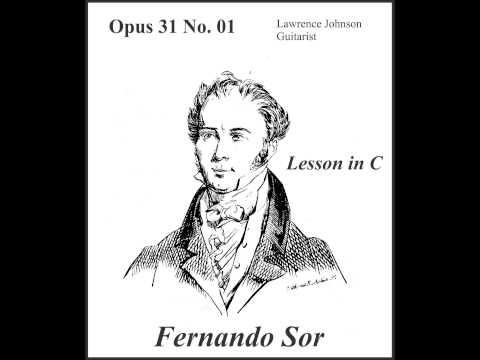 Fernando Sor Op 31 No. 01 Lesson in C