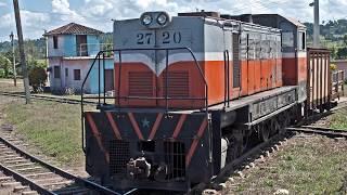 Some diesel locomotives in Cuba