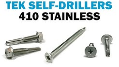 Installing Self Drilling TEK Screws In Metal | Fasteners 101