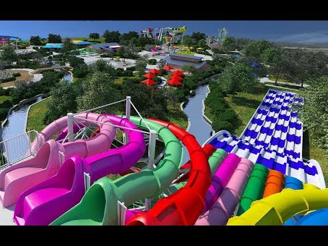 Lone Star Racers and The Gully Washer Water Slides at Typhoon Texas