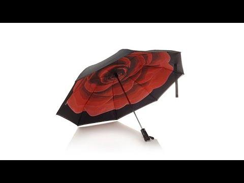 BetterBrella Compact Auto Open/Close Umbrella with Light...