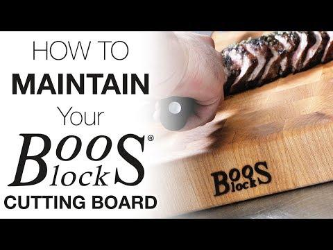 Boos Block Cutting Board - Care & Maintenance