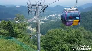용평리조트 발왕산 1458미터 케이블카. Korea Y…