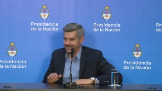 El Jefe de Gabinete Marcos Peña brindó una conferencia de prensa