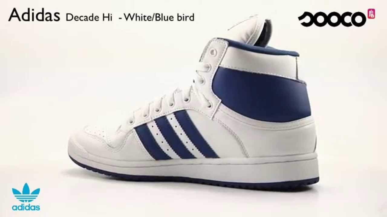 huge selection of eedb9 30a1a Adidas Decade Hi - White Bluebird