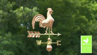 Gd501p Rooster Weathervane Polished Copper