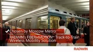 Moscow Metro chooses RADWIN