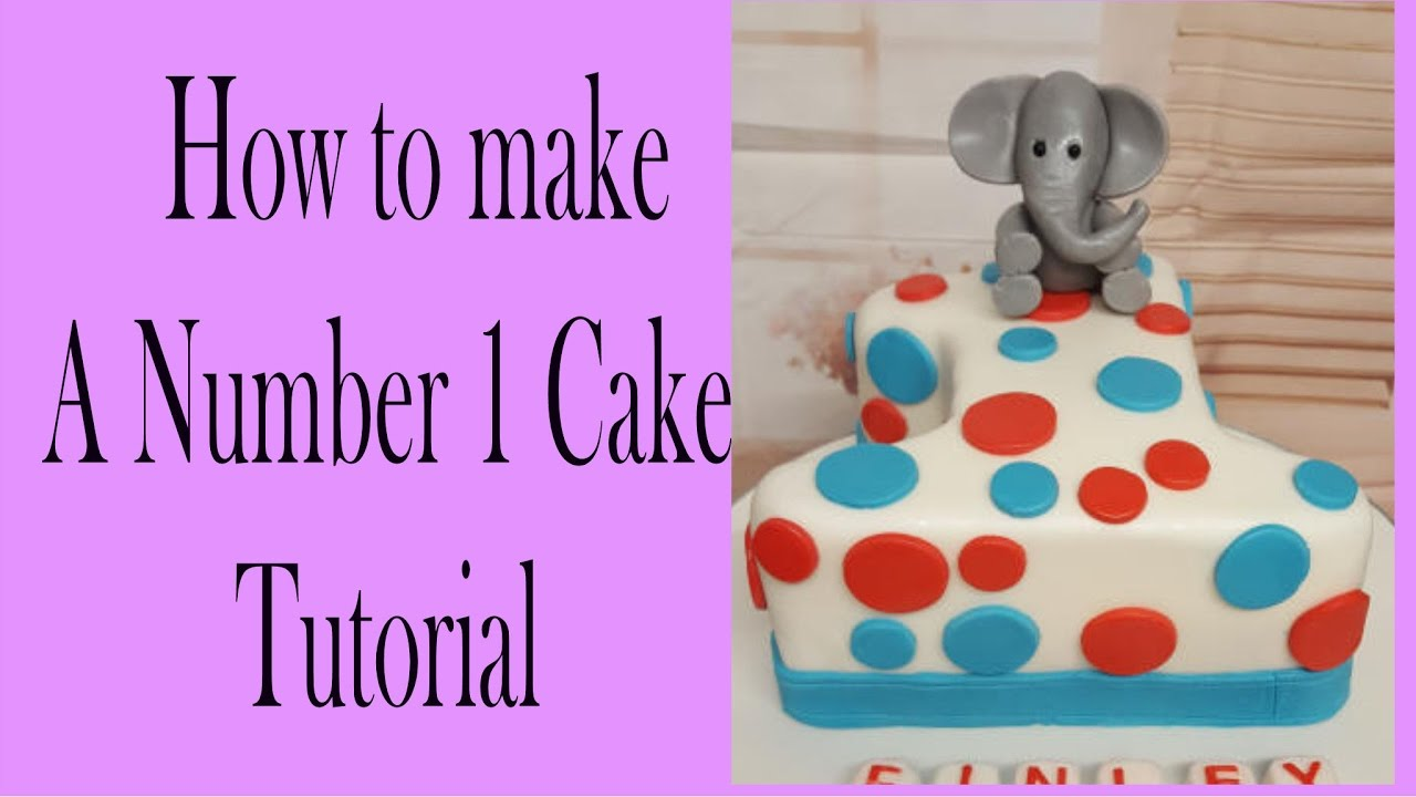 How To Make A Number 1 Cake Youtube