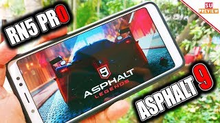 ASPHALT 9 REVIEW ON REDMI NOTE 5 PRO || MAX GRAPHICS !!