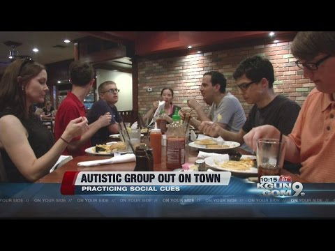 Autistic group works on social skills at local restaurant