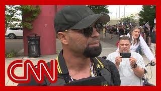 CNN reporter presses far-right rally leader in Portland