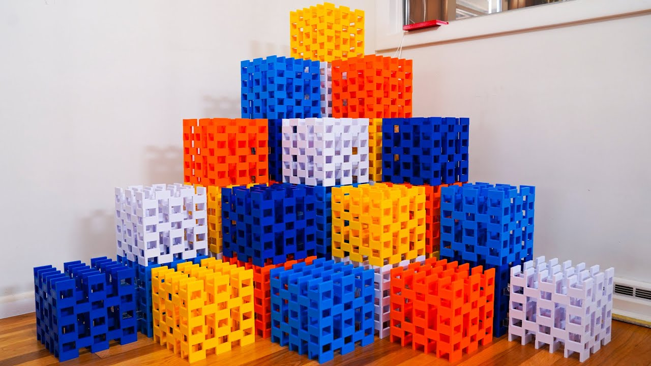 Massive Domino Structure made of CUBES!