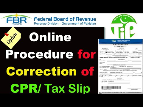 CPR Correction I Online Procedure For Correction Of Income Tax Sale Tax Federal Excise Duty