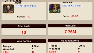 Getting 20 millions KILLS in 12 minutes | Game of War fire age screenshot 3