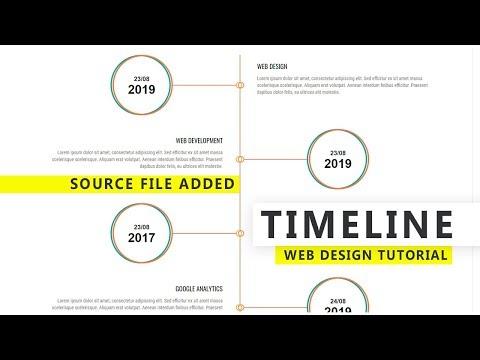 Creative Timeline Design using HTML & CSS 3 - Web Design Tutorial thumbnail