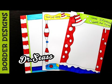 Dr seuss | Border designs on paper | border designs | project work designs | borders for projects